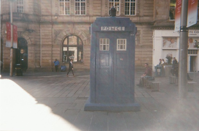 Glasgow in film photography. London UK Lifestyle blog.Smudgeness. glasgow TARDIS