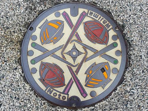 Wajima Ishikawa, manhole cover (石川県輪島市のマンホール)