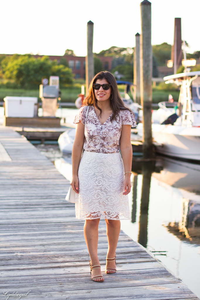 brown and white floral blouse, white lace skirt-6.jpg