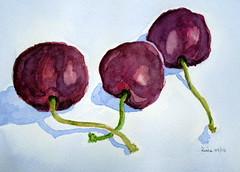 Three cherries, by Celia - DSC00327