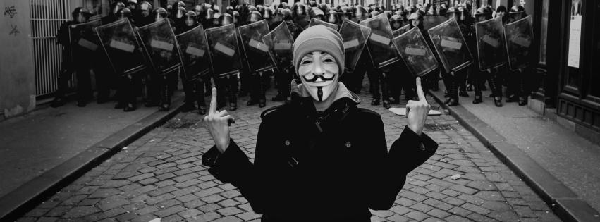 Bộ ảnh bìa Facebook Hacker, Anonymous huyền thoại (Phần 1)