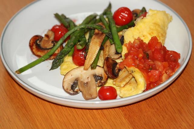 Spring vegetable omelette