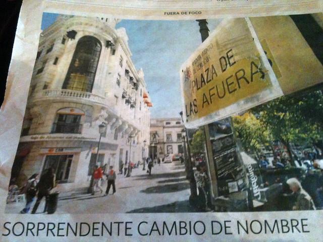 La Plaza de Las Afueras en El Día de Córdoba