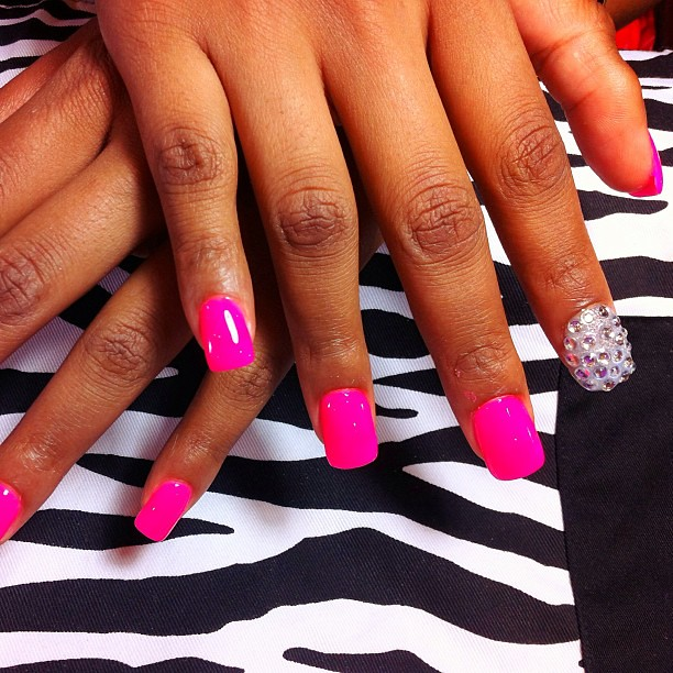 Ready for Summer? Call Paris Nails Salon @2146183558 to Set Up an Appointment for Our New Neon Pink Acrylic Fullset!