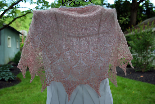 Peppermint Wish Shawl Back