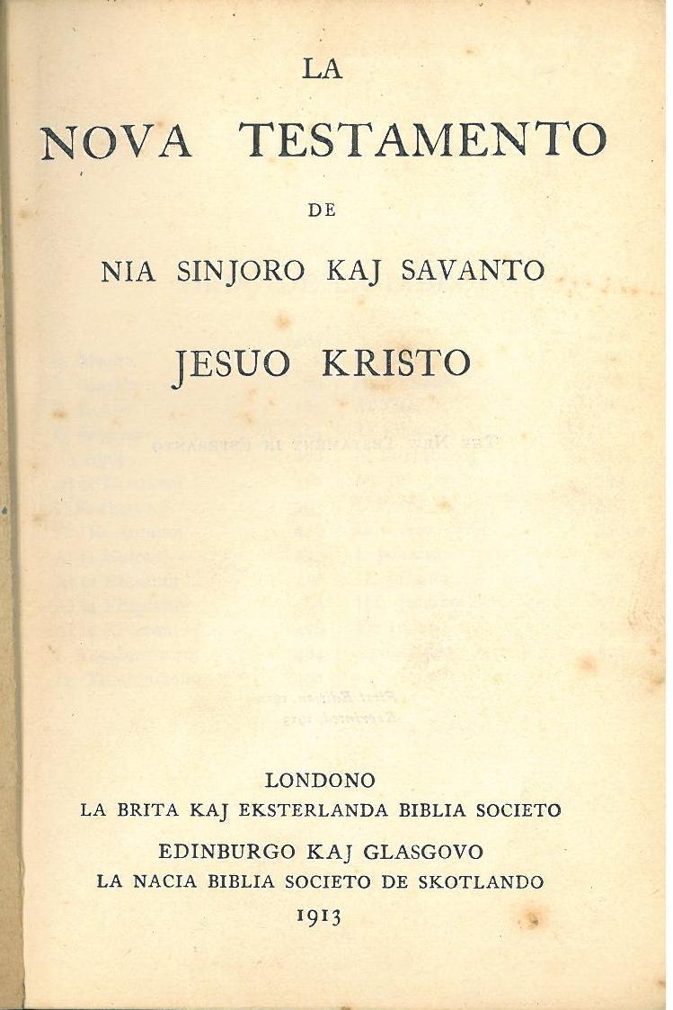 esperanto bible versions