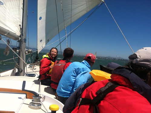 Sailing the Summer Sailstice in SF 2013