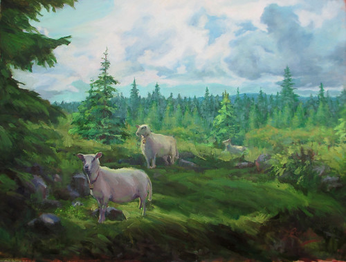Norwegian Splendor and Sheep by elle3b