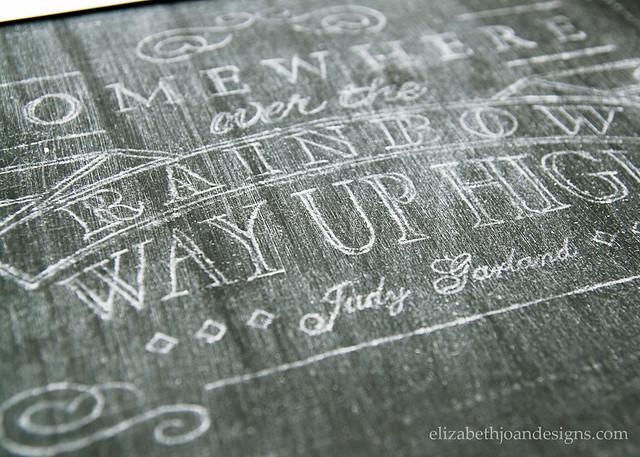 DIY Chalkboard Lettering 6