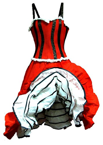 Paper Mache Can-Can Dress