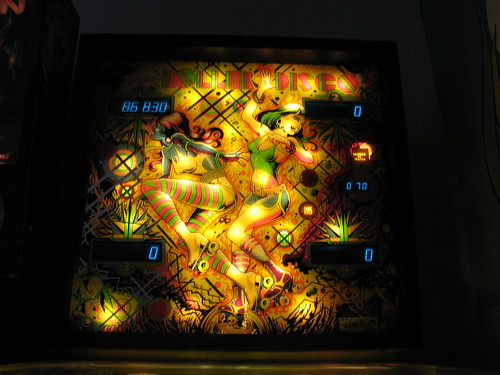 Roller Disco pinball backglass