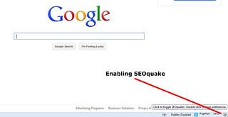Enabling SEOquake