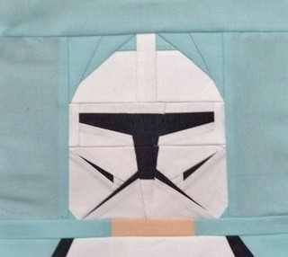 Paper pieced LEGO Clone trooper
