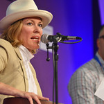 Cerys Matthews making music on stage |