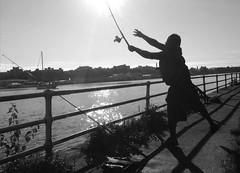 Morning fishing at Hains Point