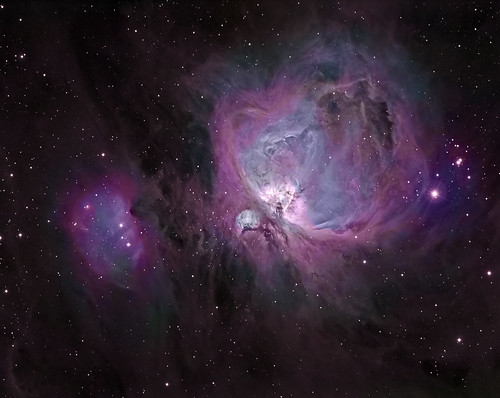 Orion Nebula with DSLR colour by Mick Hyde