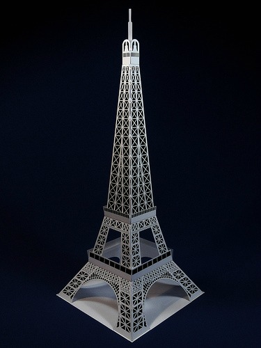 All things paper october 2013 for Eiffel tower model template