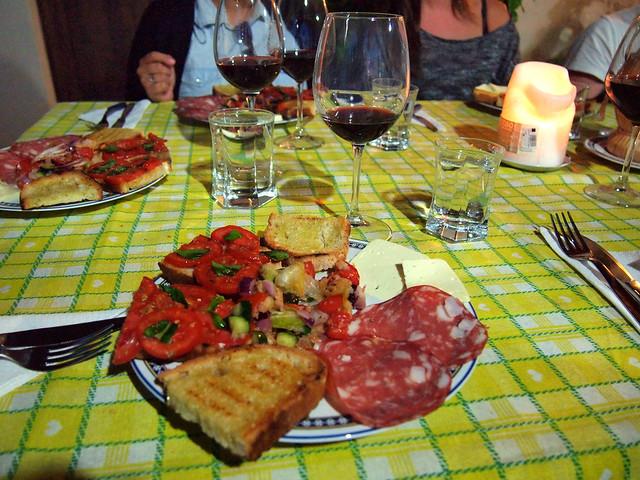 Tuscan farmhouse dinner
