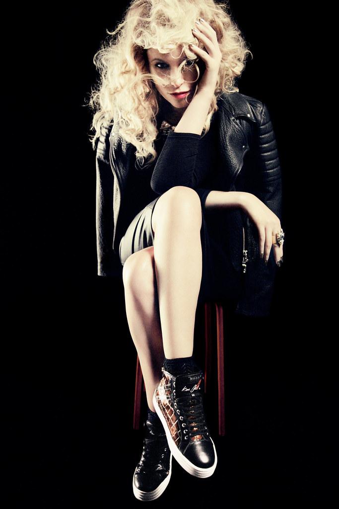 Kiera Chaplin in her signature HOGAN REBEL limited edition - october 2013