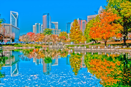 charlotte city autumn by DigiDreamGrafix.com