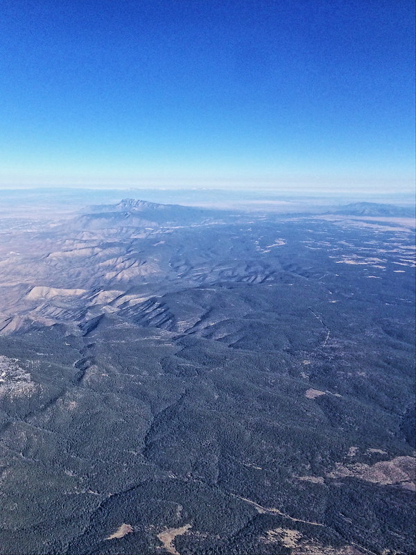 Sandia Crest from airplane