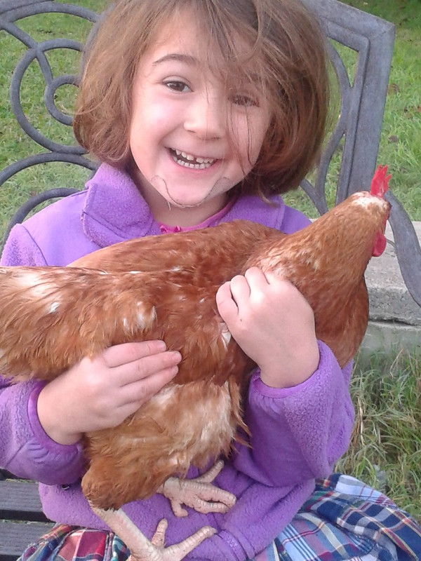 Girl + Chicken