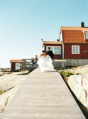 Swedish west coast archipelago wedding