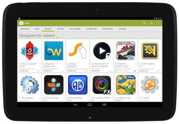 Google Play для планшетов