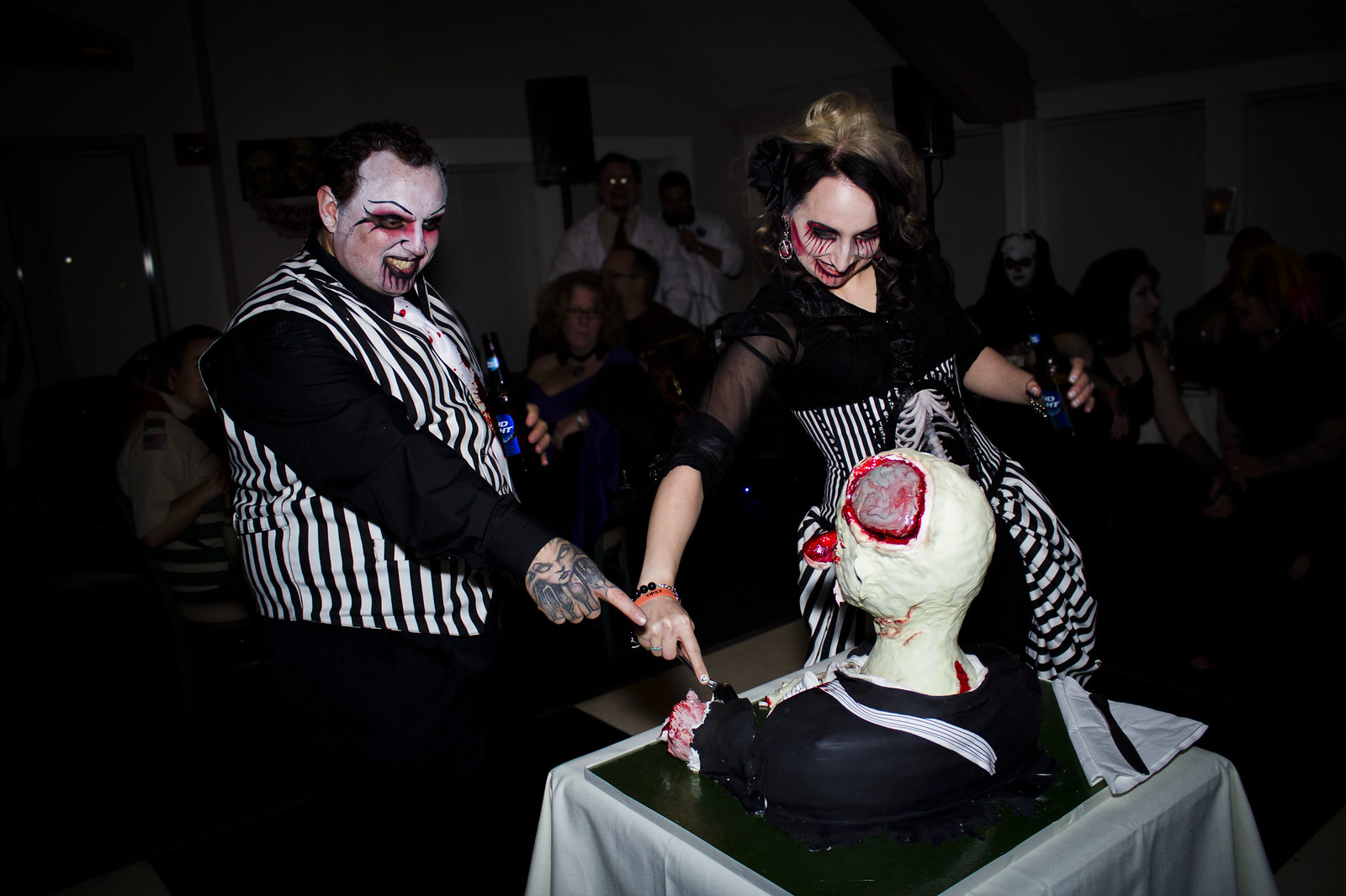 Rachel & Pete's Halloween Zombie Wedding