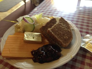 Ploughman's Lunch plate