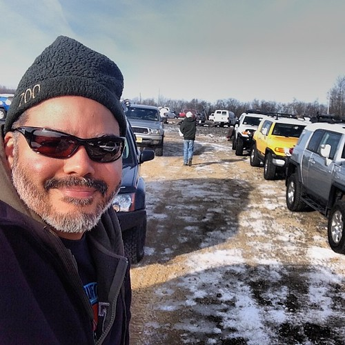 Getting ready to off-road with a bunch of #fj cruisers