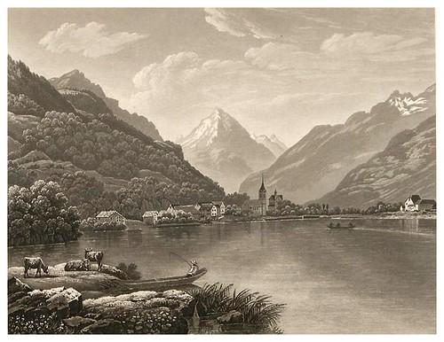 006-Vista de Fluelen-Cinquante vues pittoresques de la Suisse… -Vía e-rara