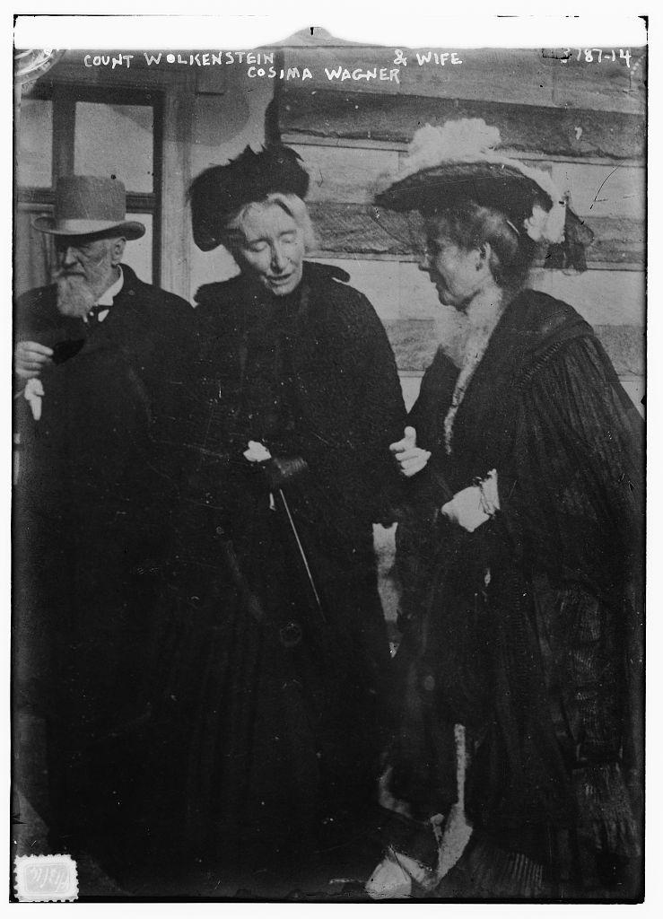 Count Wolkenstein, Cosima Wagner & Countess Wolkenstein (LOC)