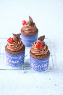 Chocolate Cherry Cupcakes