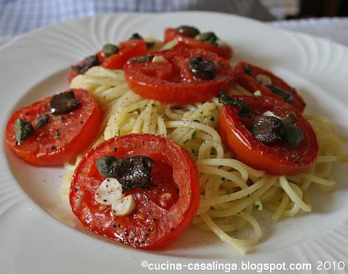 Tomaten Spaghetti Teller
