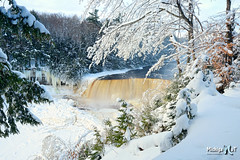 Winter at Tahquamenon Falls Michigan's Upper Peninsula by Michigan Nut
