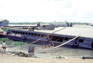 1972 Ferry crossing Dinh Tuong to Vinh Long on QL4