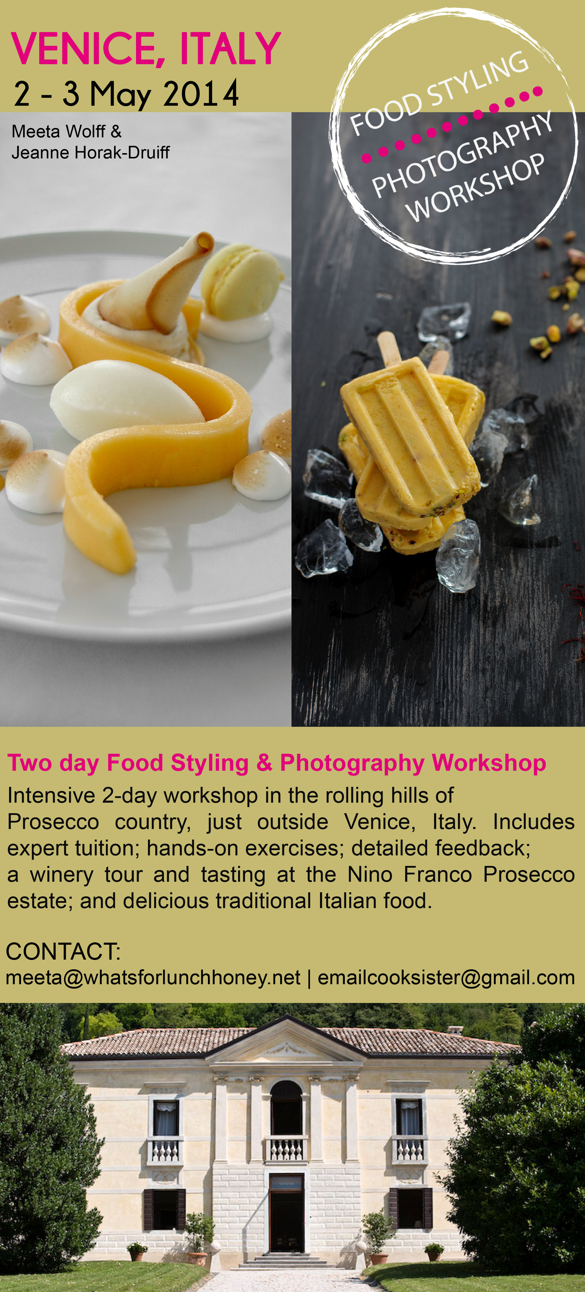 Venice Food Photography & Styling Workshop