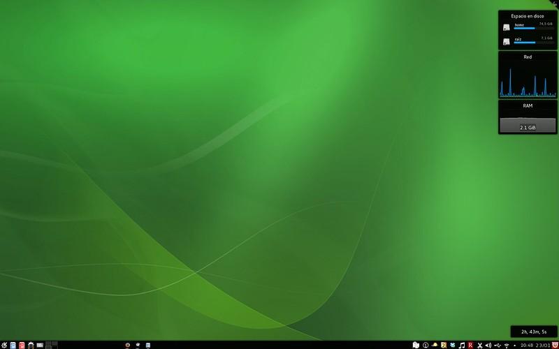 OpenSUSE + KDE sin ventanas abiertas
