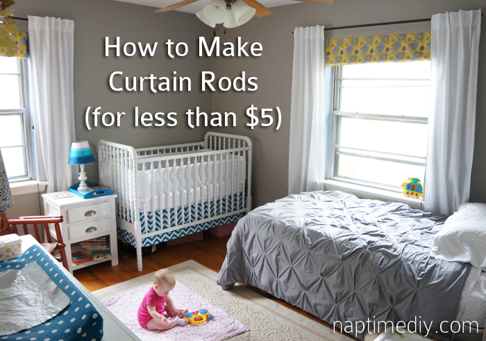 Curtain Rods cheapest place to buy curtain rods : How to Make Curtain Rods (for less than $5 each!) » Naptime DIY