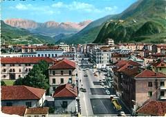 postcard - bolzano - via druso - 1970
