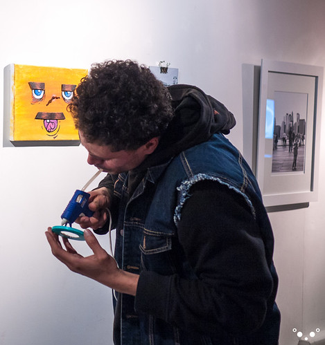 Jonnie Flatbush posting spectacles with the Glue Gun.