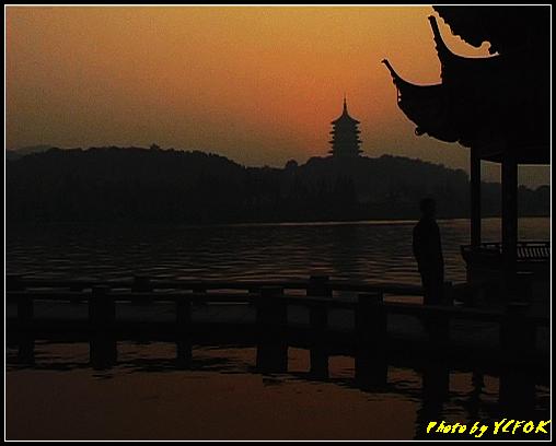 杭州 西湖 (其他景點) - 567 (西湖十景之 柳浪聞鶯 在這裡看 西湖十景的雷峰夕照 (雷峰塔日落景致)