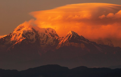 nepal sunset day cloudy olympus explore pokhara annapurna himalayas dey anindo annapurnasouth hiunchuli e520 olympuse520 oniondo anindodey ranibanretreat pwwinter