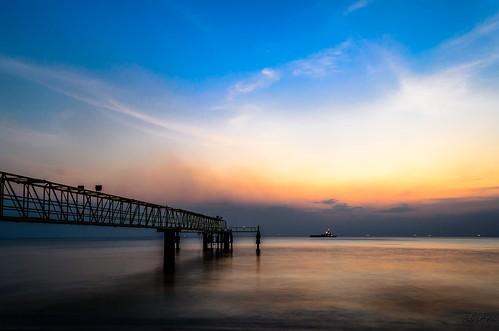 blue sunset nikon slow shutter melaka seascpae pantaiputeri d7000