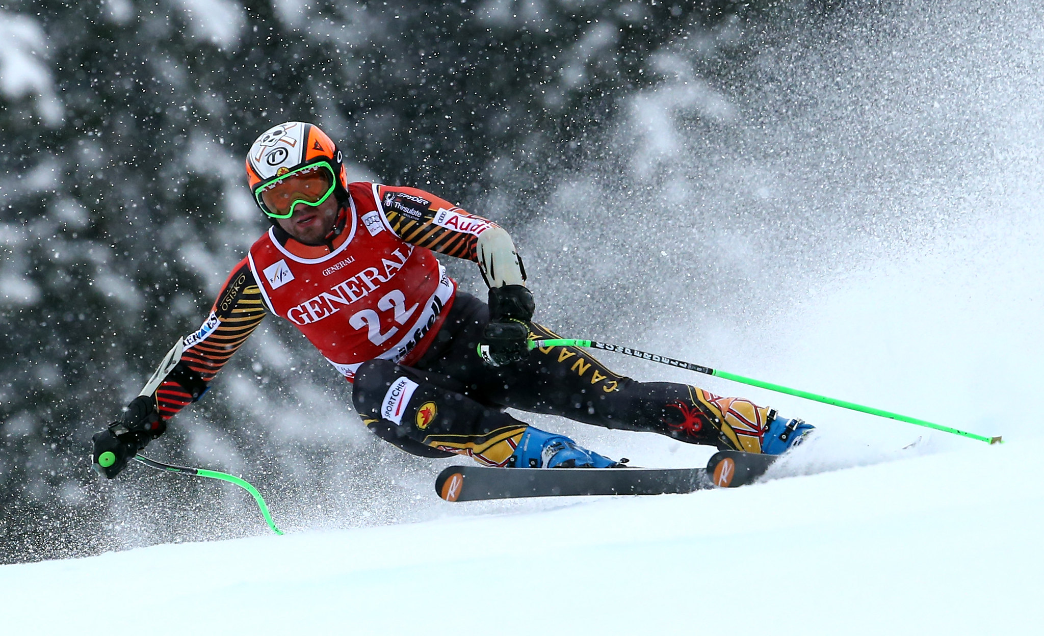 Jan Hudec competes in the Super-G in Kvitfjell, NOR