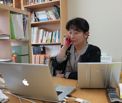 鳥越惠子教授研究從聲境思考引導設計的學問,是日本的先驅。攝影:范欽慧。
