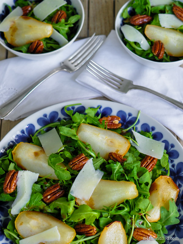 Roasted Pear, Parmesan & Spiced Pecan Salad