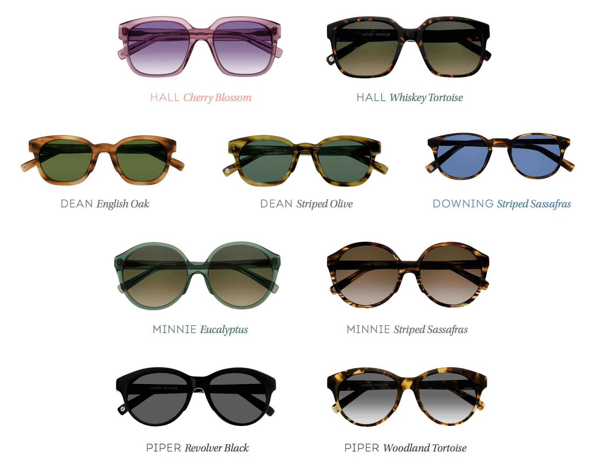 warby parker, sunglasses, spring collection, spectrum, arainymelody
