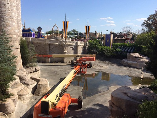 Drained Moat Around Cinderella Castle
